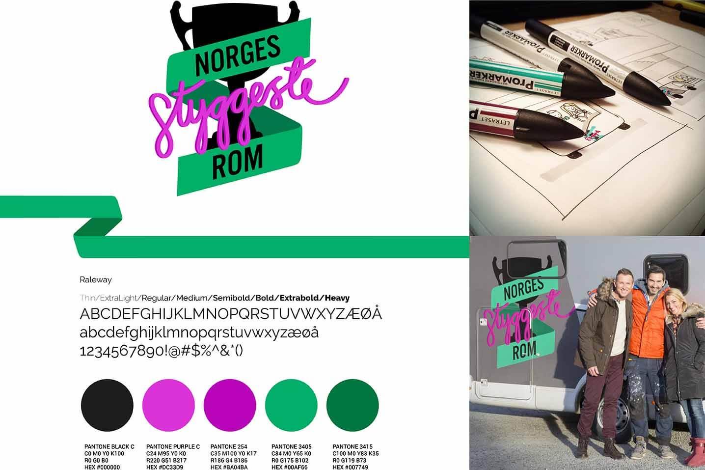 Logo og logofarger for Norges styggeste rom