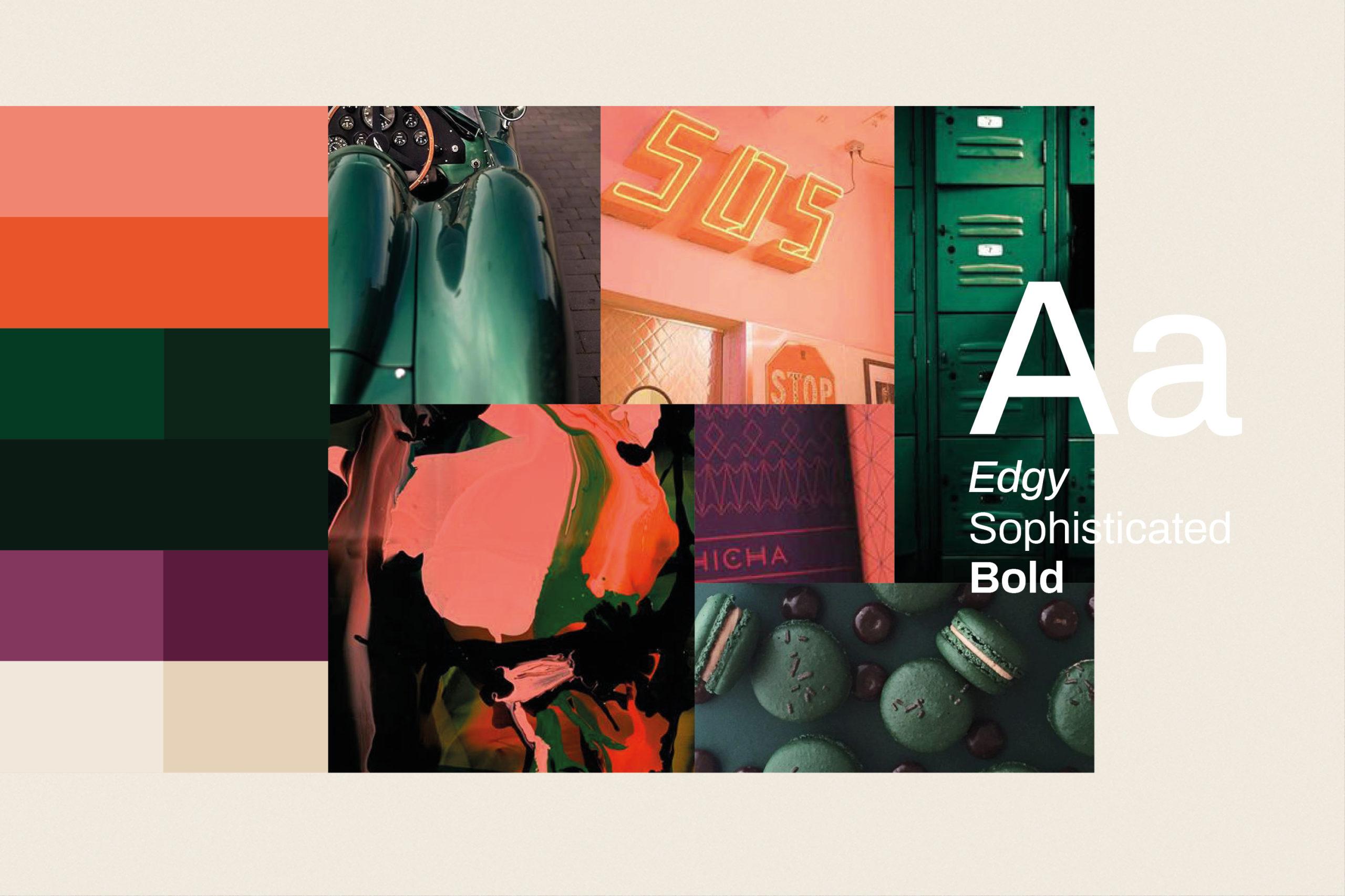 Fargepallett og typografi for The Cabinet nettbutikk