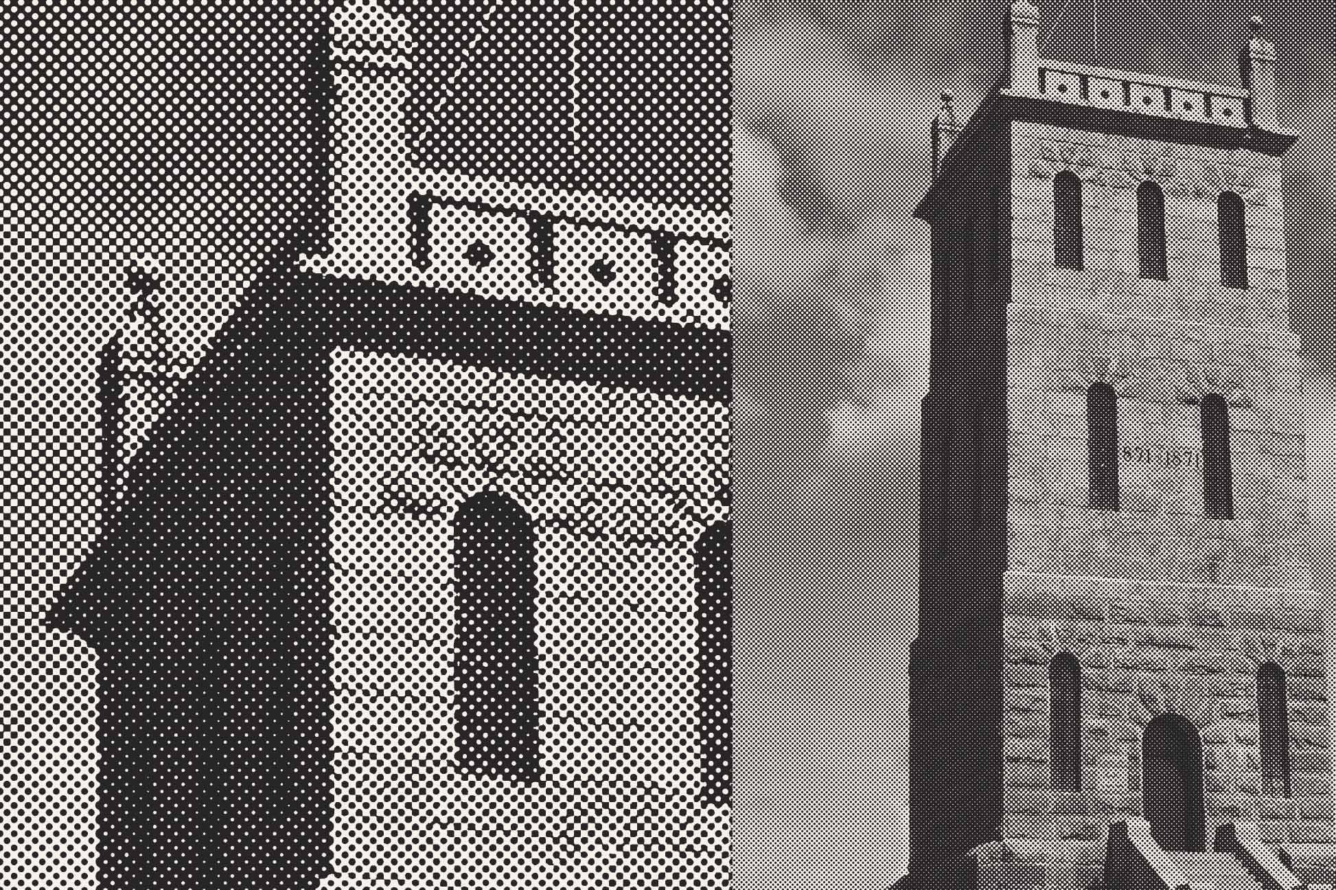 Illustrasjon av Slottsfjellet